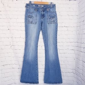 Mavi Low Rise Flare Bell Bottom Jeans Y2K 90s Boho